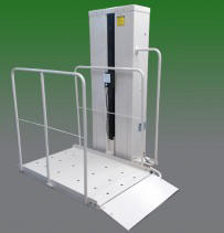 pl50 san francisco porch lift vertical platform wheelchair access