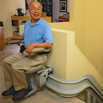 oakland stairlift elite indoor curved cre2110 by brunostairlifts