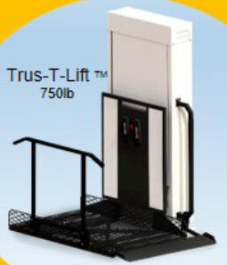 trustram trus-t-lift vertical platform lifts vpl porch san jose mobile home park